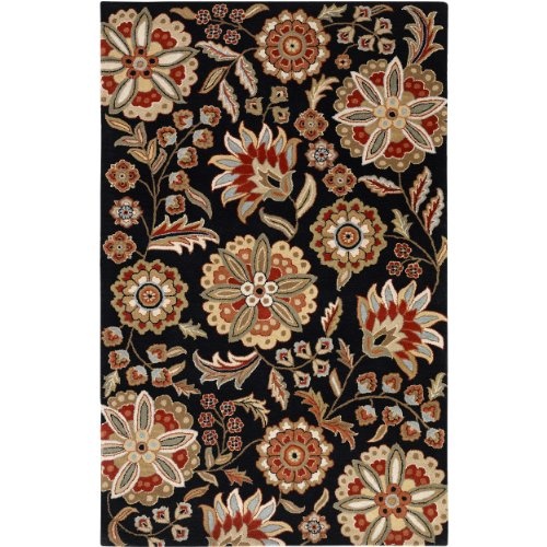 Surya Athena ATH-5017 Transitional Hand Tufted 100% Wool Black Olive 10' x 14' Area Rug