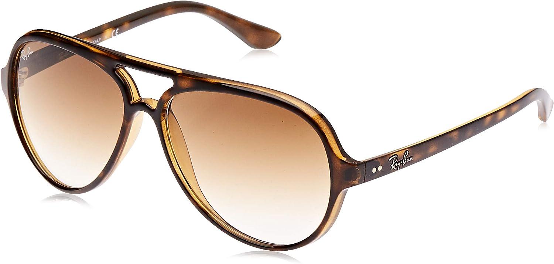Ray-Ban - Gafas de sol Aviador Cats 5000, Brown (710/51 Light Havana)