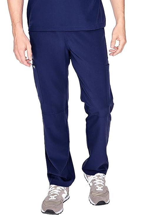 FIGS Medical Scrubs Men's Axim Cargo Scrub Pants (Navy Blue, M) best men's scrub pants