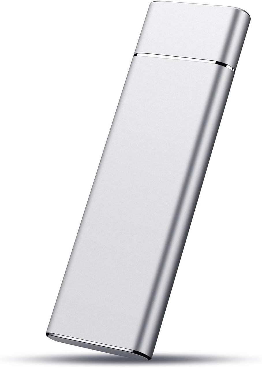External Hard Drive HDD USB3.1 1TB External Hard Drive for PC, Mac, Desktop, Laptop, MacBook, Chromebook, Xbox One, Xbox 360 (1TB, Silver)