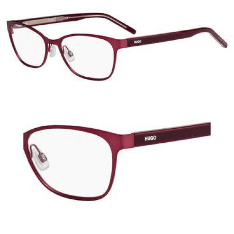 hug Eyeglasses Hugo Hg 1008 0QYF Matte Burgundy Pink