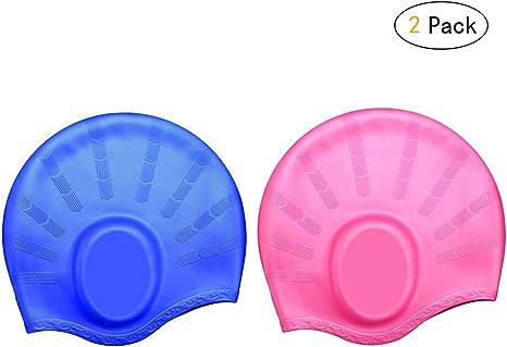 Kangcheng Gorra de baño Mujeres y Hombres Bolsillos oído Cabello ...