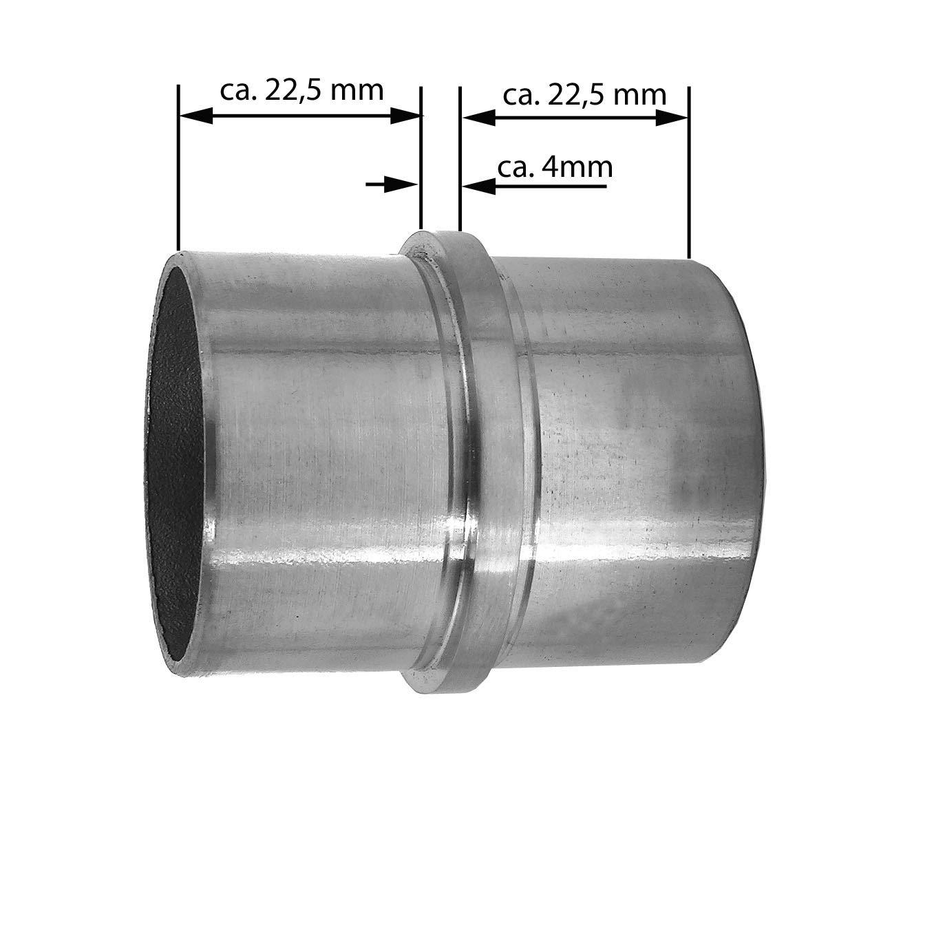 Modell:KA10 Endkappe leicht gew/ölbt Edelstahl Gel/änder Wand Handlauf Tr/äger V2A Treppe Haltegriff /Ø42,4 x 2 mm BASIT