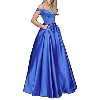 4ba89626c30 Femmes hors de l épaule longue robe de soirée sans manches robe de bal  perlée