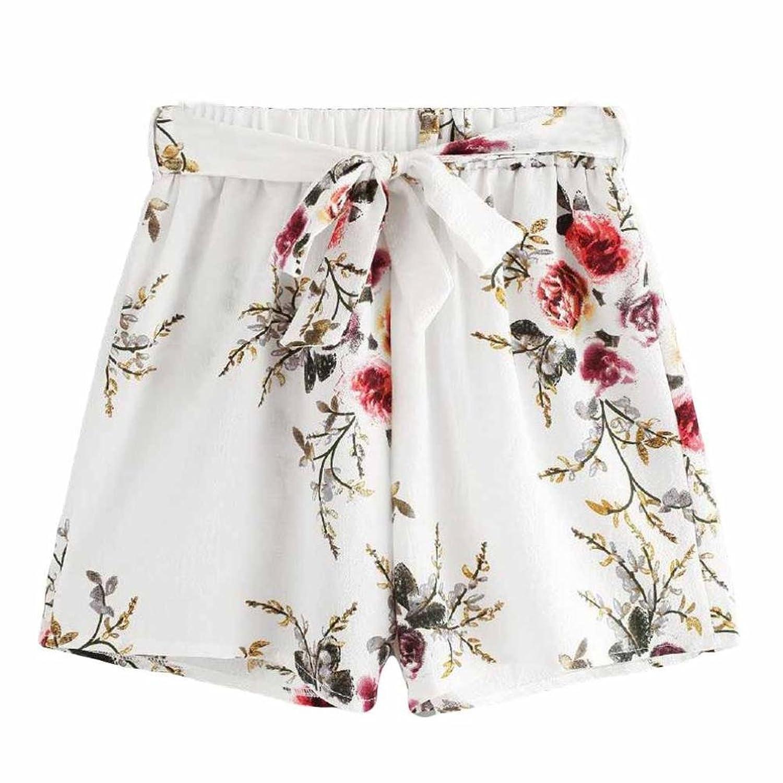 32c5e66e8cd38 Dasongff Damen Bedruckte Hot Pants Sommer Shorts Hohe Taille Kurze ...