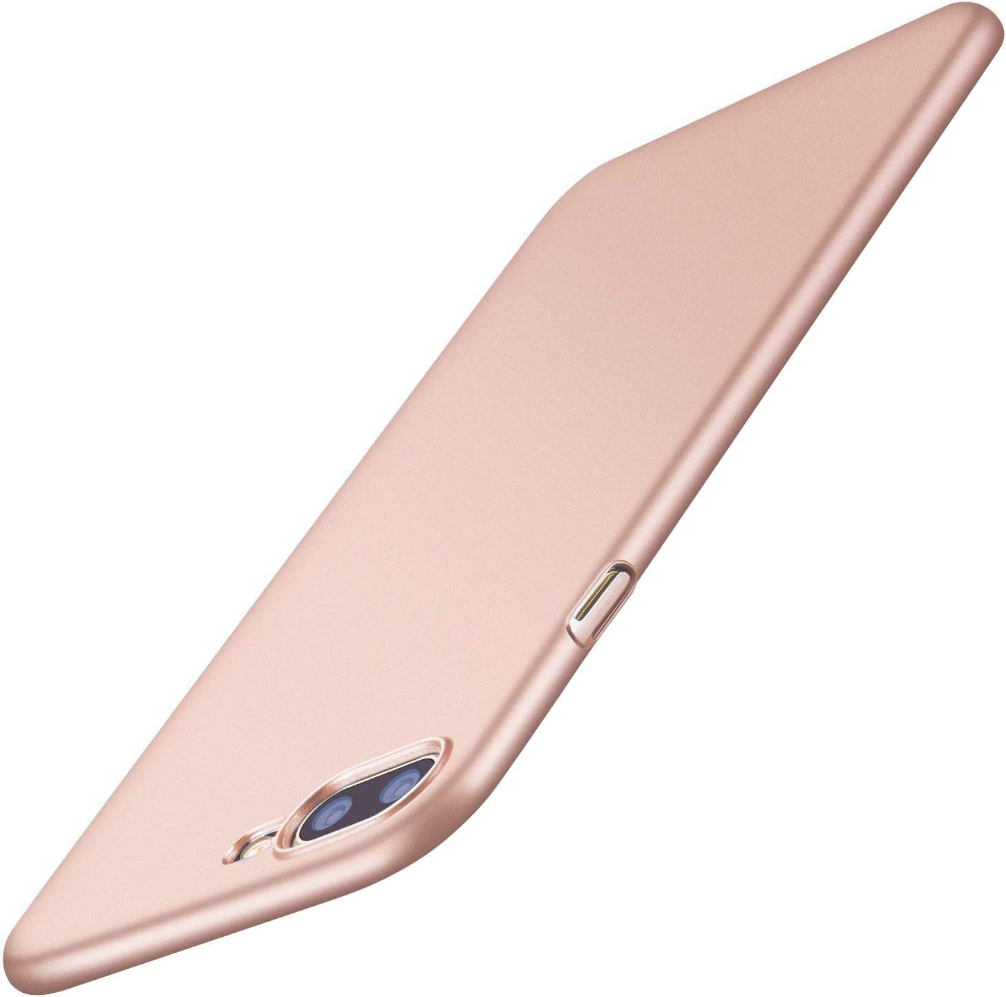TORRAS Slim Fit Designed for iPhone 8 Plus Case/iPhone 7 Plus Case, Hard Plastic PC Ultra Thin Phone Cover Case with Matte Finish Coating Grip Compatible with iPhone 7 Plus / 8 Plus, Rose Gold