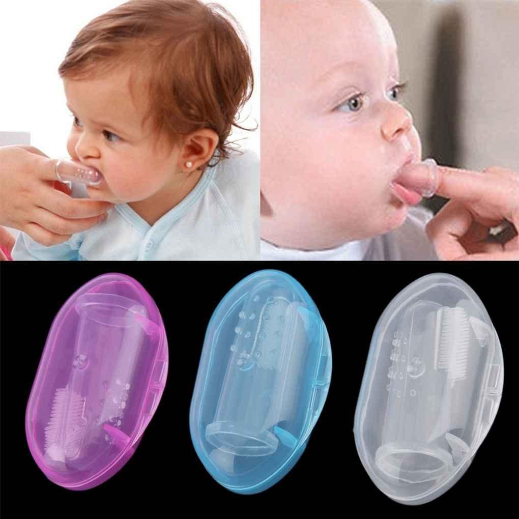 fgyhtyjuu Infantil del bebé de Silicona Suave Dedo del Cepillo de Dientes Dientes masajeador de Goma con la Caja: Amazon.es: Hogar