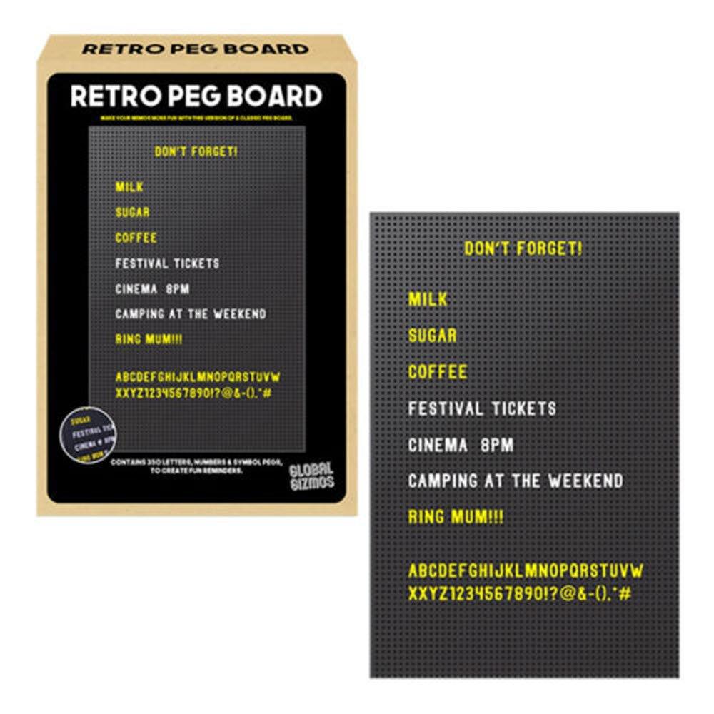 350 Letter Retro Peg Board Message Board Sign Fridge Desk Gadget Gift Numbers