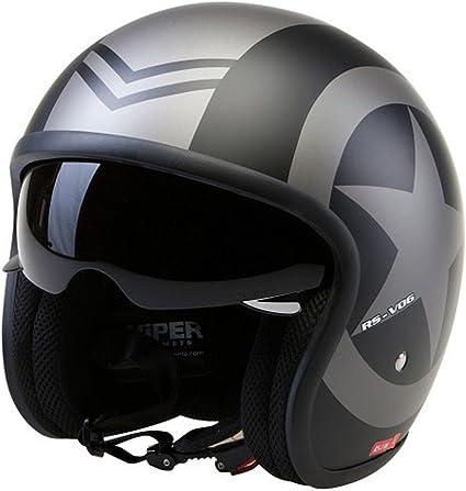 Amazon.es: Casco de la Motocicleta Jet Casco Cascos Abiertos VIPER ...