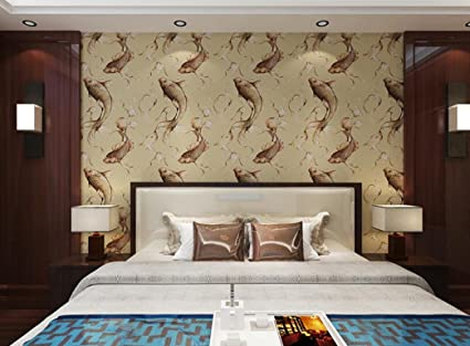 Modern Chinese Carp Design Wallpaper Bedroom Living Room Tv
