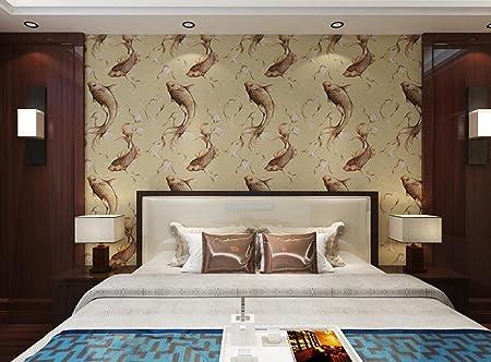 Modern Chinese Carp Design Wallpaper Bedroom Living Room Tv