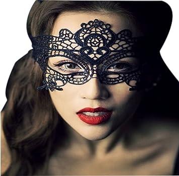 Haodou Partido de las mujeres cara máscara de los ojos de encaje traje veneciano Carnaval de la mascarada fiesta de halloween baile de fin de curso de ...