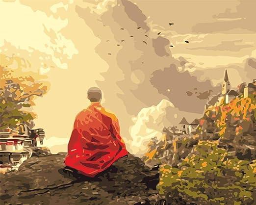 Puzzle para Adultos 1000 Piezas de Madera Monje Budista En la ...