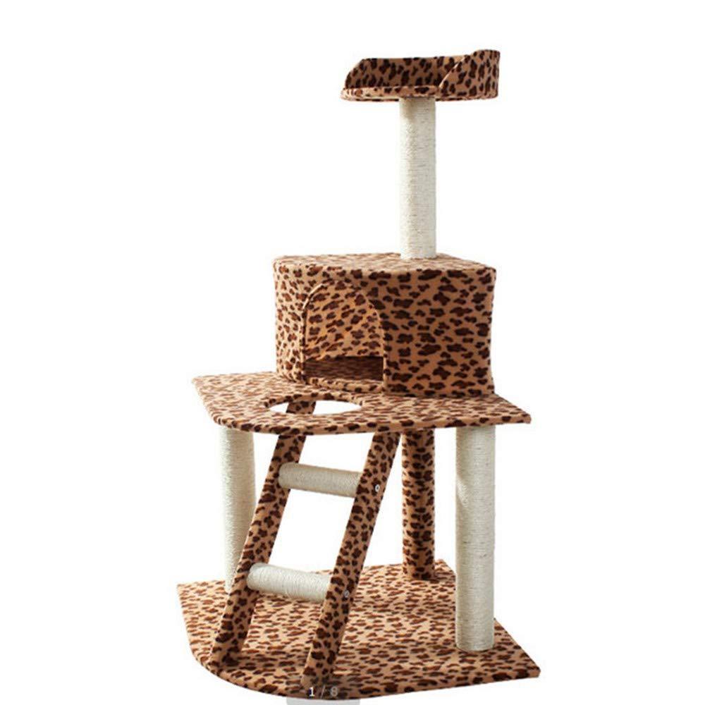 Leopard Print ZMMA ZMMALeopardprint threestorey cat climbing frame cat scratch post,Leopard Print