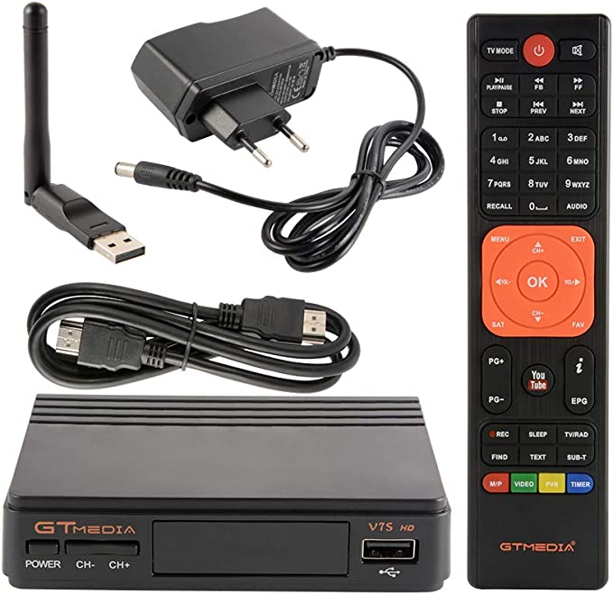 Tutmonda Receptor de TV satelital Digital con Antena USB ...