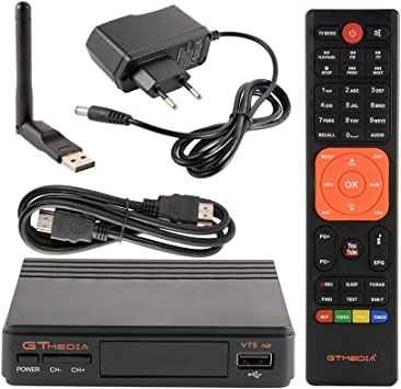Tutmonda Receptor de TV satelital Digital con Antena USB WiFi ...