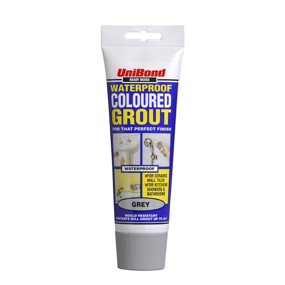 Unibond waterproof ready mixed coloured grout tube grey unibond waterproof ready mixed coloured grout tube grey discontinued by manufacturer amazon diy tools dailygadgetfo Gallery
