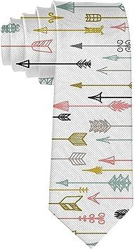 Corbata de seda con flechas étnicas unisex para hombre, corbata ...