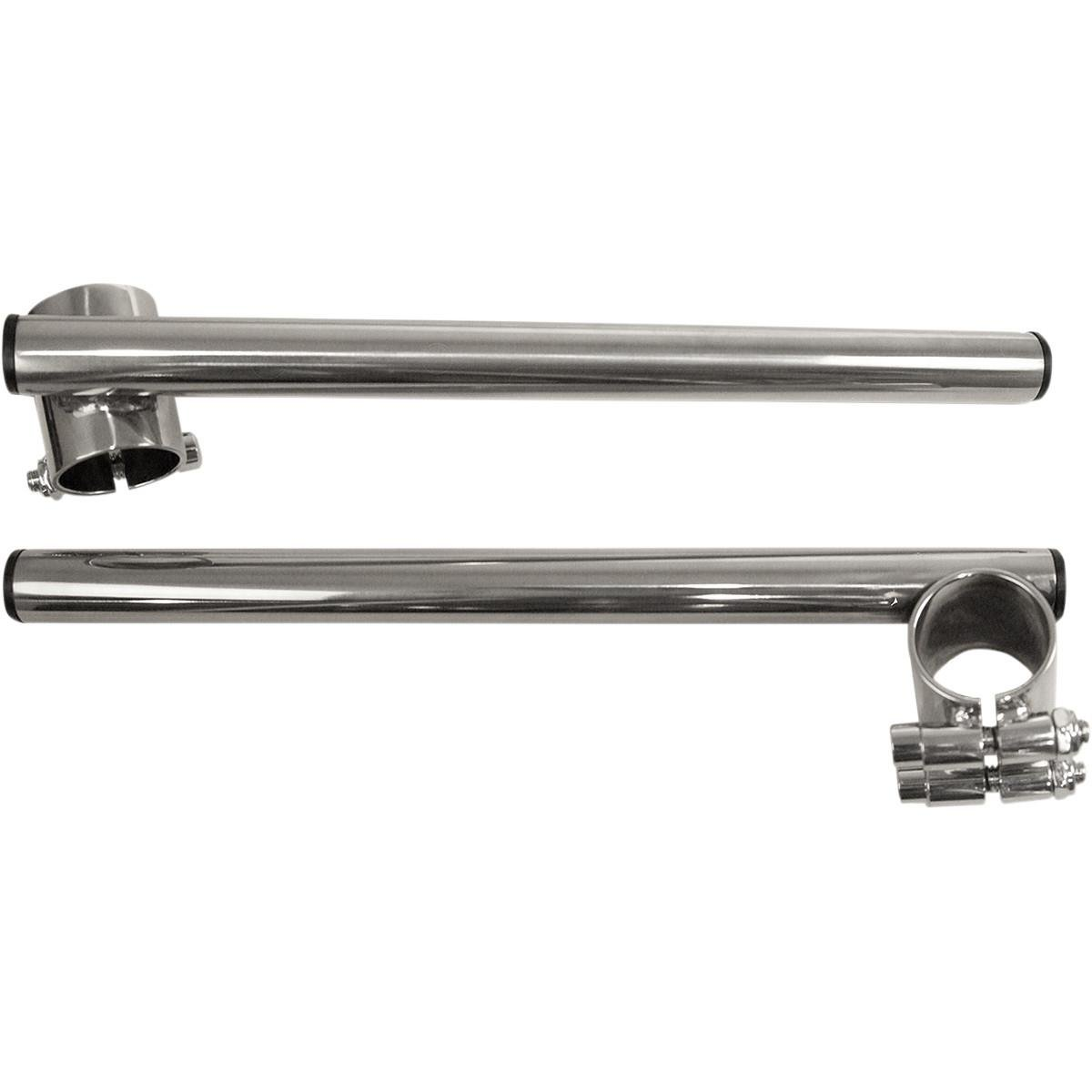 Steel Clip-on Handlebars Color: Chrome 23-93121 Handle Bar Size: 7//8in. Chrome Emgo 7//8in 35mm Fork Tube