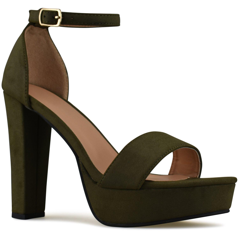 755c75d2fcc7 Amazon.com | Premier Standard Womens Platform Ankle Strap High Heel - Peep  Toe Sandal Pump - Sexy Chunky Dressy Heel | Sandals