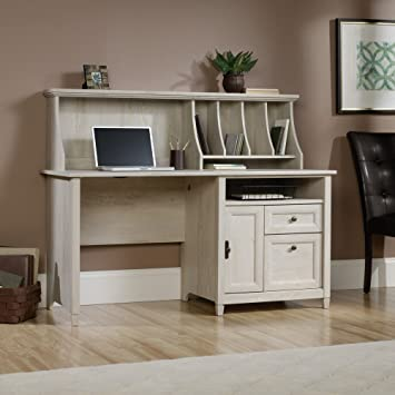 Amazoncom Sauder Edge Water Computer Desk with Hutch in Chalked