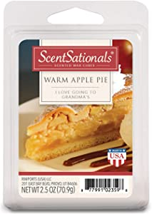 Scentsationals 001-40172-4PK Warm Apple Pie 2.5 oz Scented Fragrant Wax Melts-4 Pack, Red