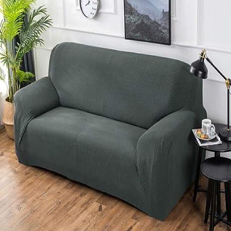 Amazon Com Simple Modern Plaid Sofa Cover Cotton Linen