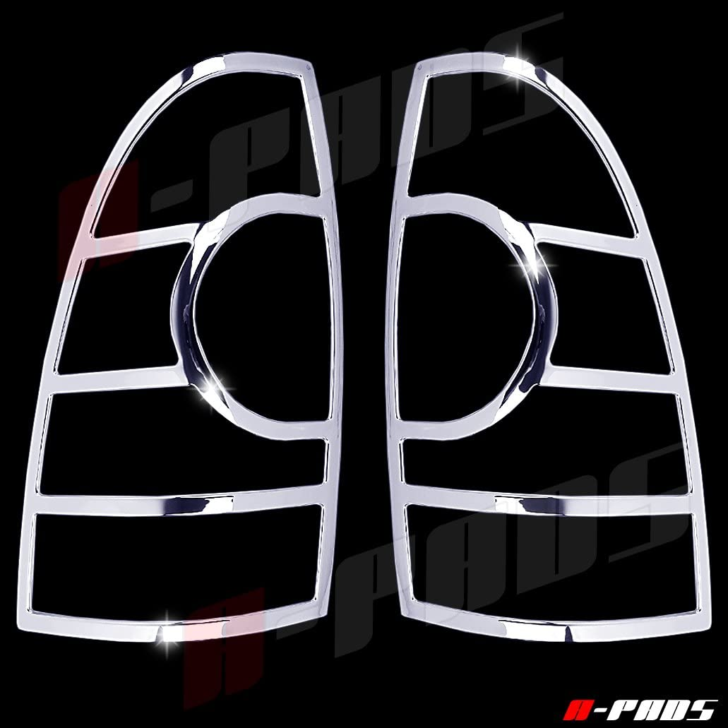 Rear Back Lights Cover Pair Taillight Outline Trim A-PADS 2 Chrome Tail Light Covers for Toyota Tacoma 2005-2015