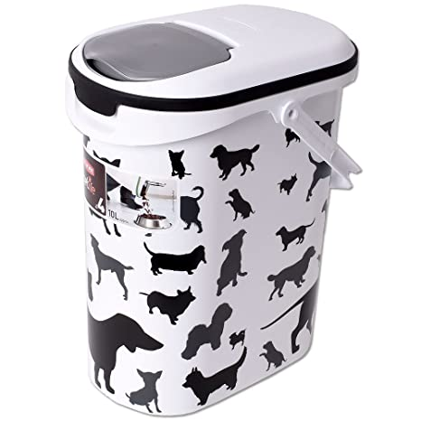 Curver Animales Forro Depósito Diseño Perros trockenfutter Guardar Perros Forro Contenedor Forro Caja Tapa del recipiente