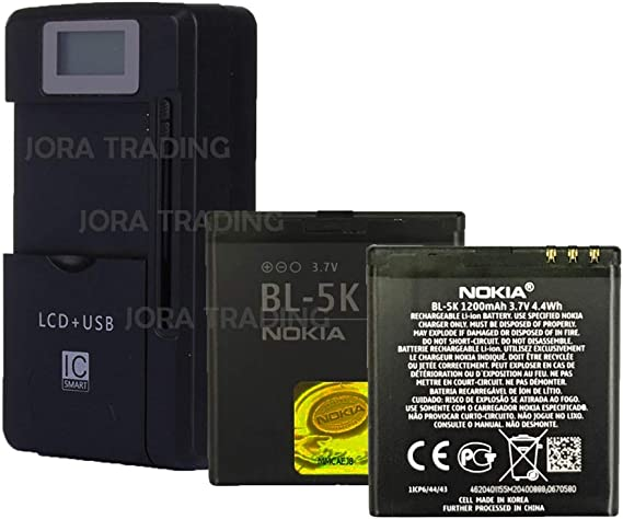 Amazon Com Oem Battery Bl 5k For Nokia C7 N86 N85 X7 C7 00 W Universal Lcd Battery Charger Usb Port Adjustable Dock In Non Retail Packaging