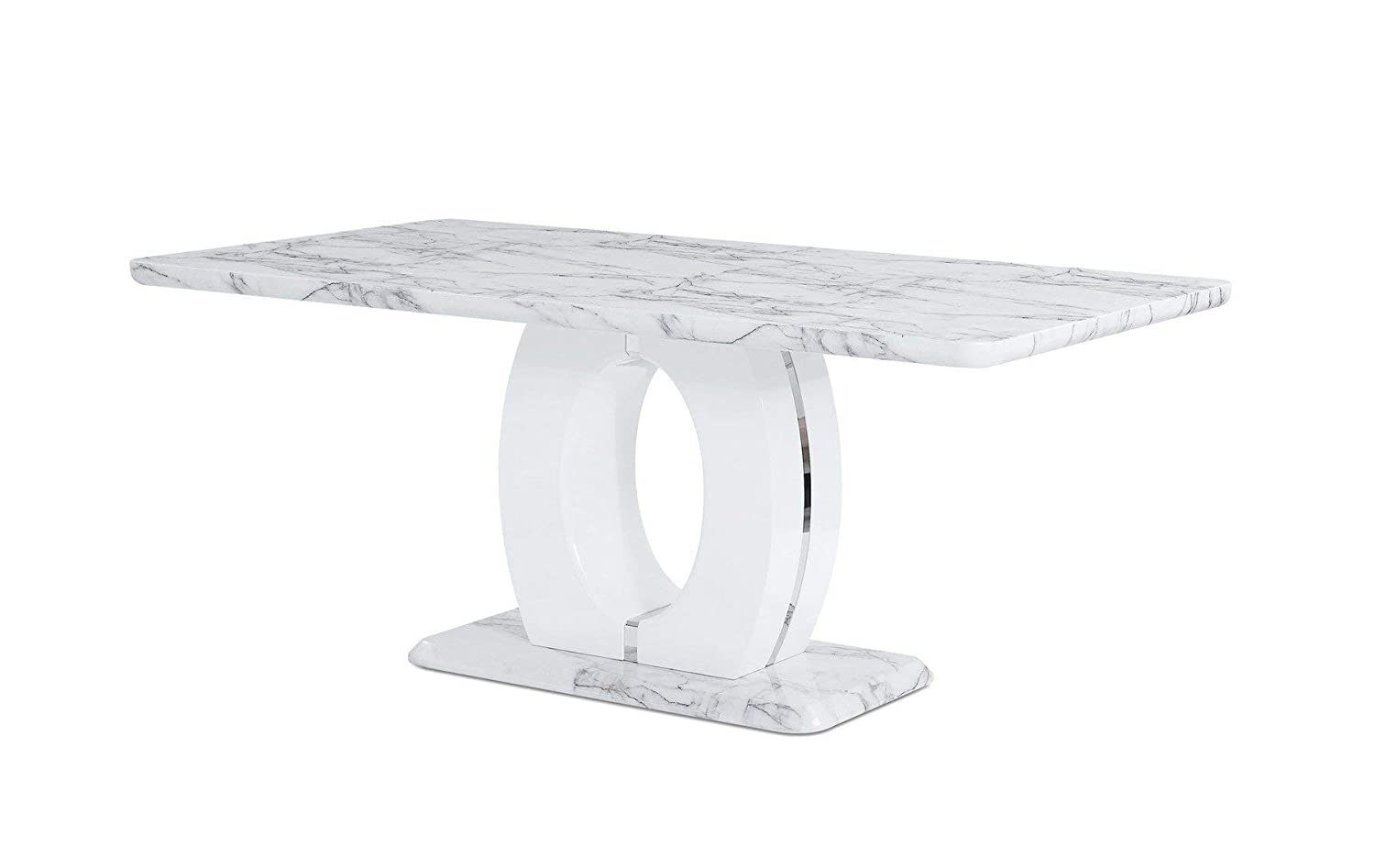 Global Furniture USA D894DT Global Furniture Faux Marble Pedestal Base Dining Table, BR