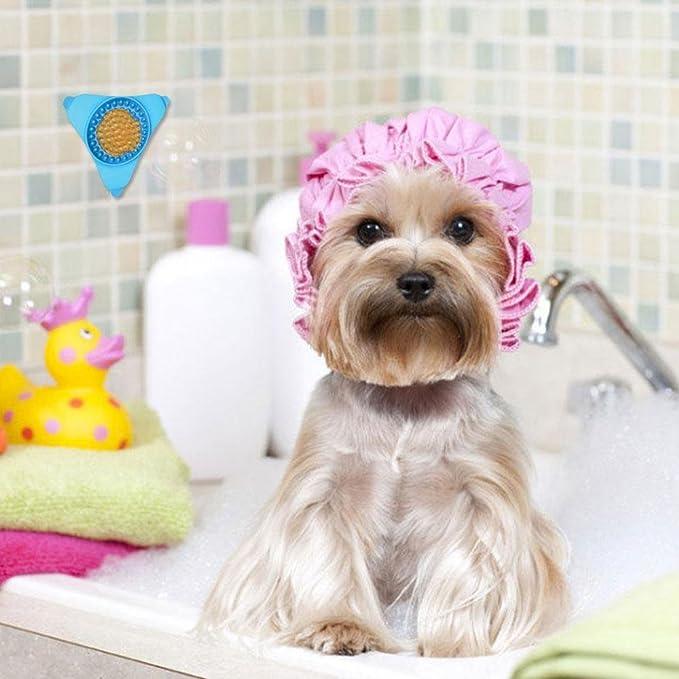 Aolvo Comedero lento para mascotas, cuenco de silicona para perros con tratamiento lento de comida, montaje en pared, dispensador de comida, ...
