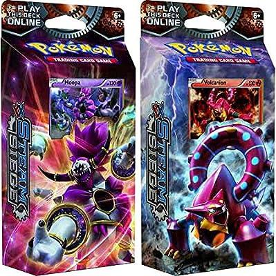 BOTH Pokemon XY Steam Siege 60-card Theme Decks - Gears Of Fire & Ring of Lightning!