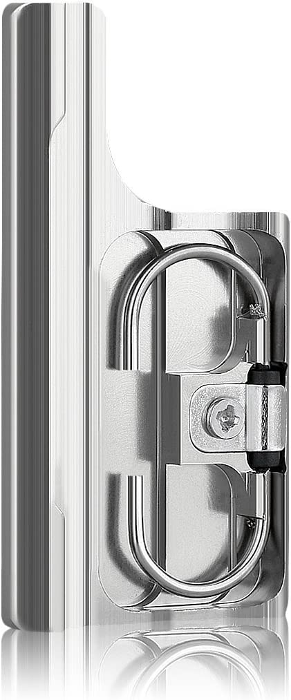 Sametop Aluminum Replacement Latch Rear Snap Lock Buckle for Gopro Hero4 Hero3+ Cameras Standard Waterproof Skeleton Housing (Silver)