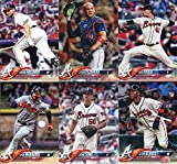 Atlanta Braves 2018 Topps Complete Mint Hand Collated 20 Card Team Set with a Rookie Card of Ozzie Albies plus Dansby Swanson and Freddie Freeman and Others