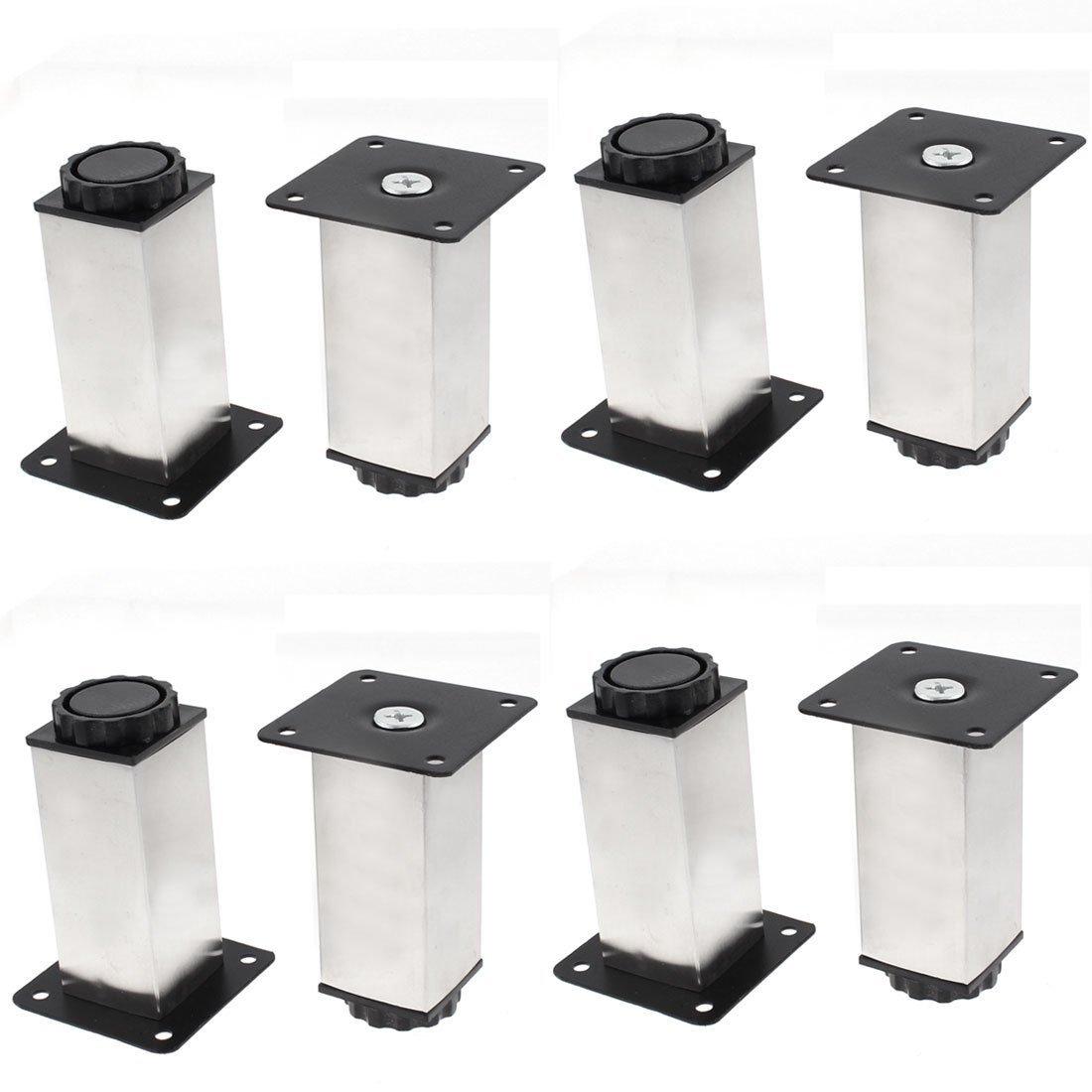 uxcell® Furniture Cabinet Sofa Chair 38mm x 100mm Adjustable Plinth Leg 8pcs US-SA-AJD-123901