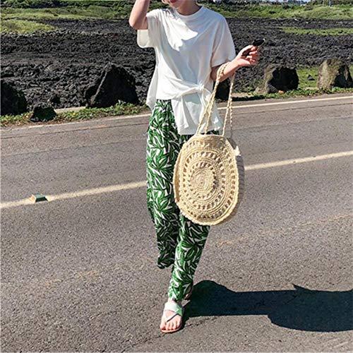 de Paille beige populaire Beige Tote plage INS Sac à Sacs main à d'été Sac Femme Sac bandoulière shopping de EgqT11w0