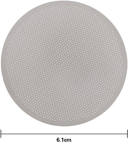 estera de filtro de caf/é apto para cafetera AeroPress Filtro de malla de acero inoxidable lavable y reutilizable