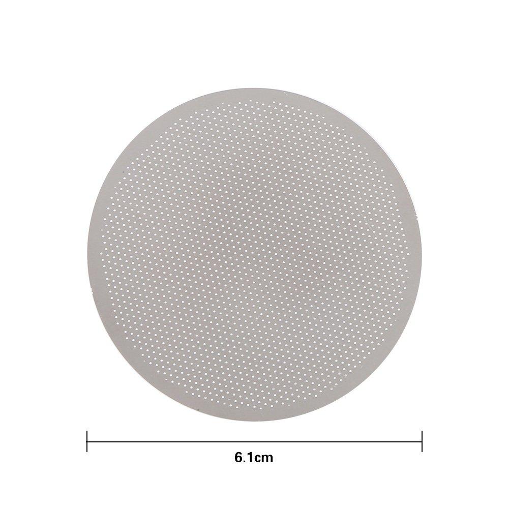 Filtro De Caf/é De Acero Inoxidable De Primera Calidad Siliver Ideal para El Hogar La Oficina Filtro De Caf/é De Acero De Metal Reutilizable S/ólido