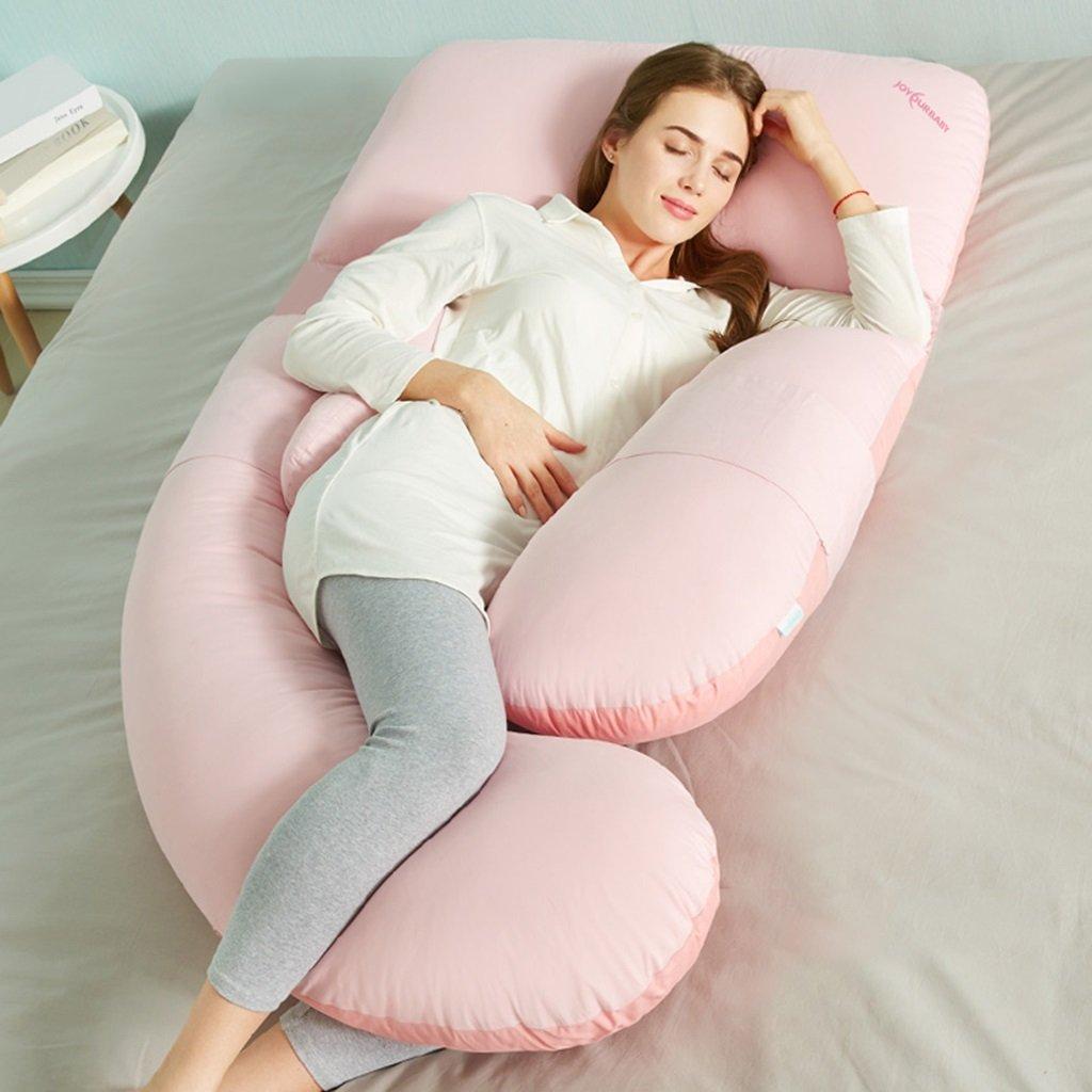 フルボディ妊娠枕 妊娠中および授乳中の女性のためのU字型の低刺激性マタニティサポートクッション ( 色 : ピンク ぴんく ) B07B9WTDSXピンク ぴんく