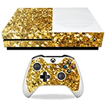 MightySkins Protective Vinyl Skin Decal for Microsoft Xbox One S wrap cover sticker skins Gold Chips
