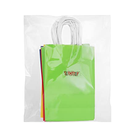 TOYANDONA - 20 bolsas de papel kraft con asa para fiestas ...