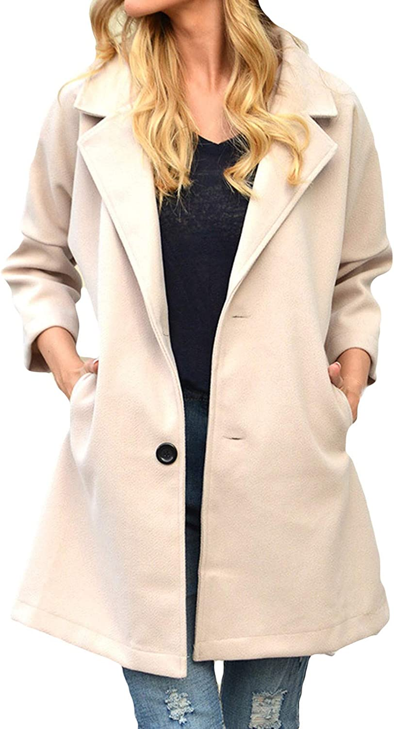 Casual Outerwear Womens Autumn Winter Loose Fitting Fashion Irregular Plaid Cotton Polyester Trench Coat With Pockets Casual Trench Coat