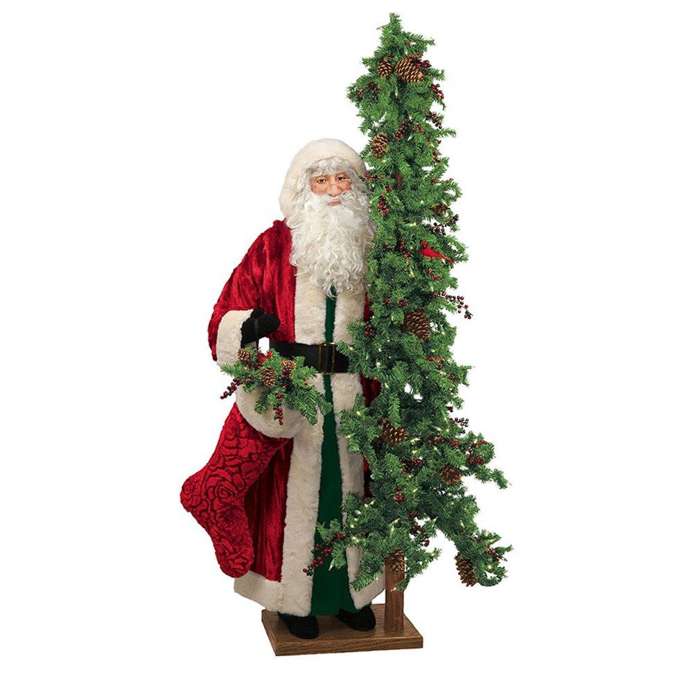 Ditz Designs Vintage Christmas Santa with Tree