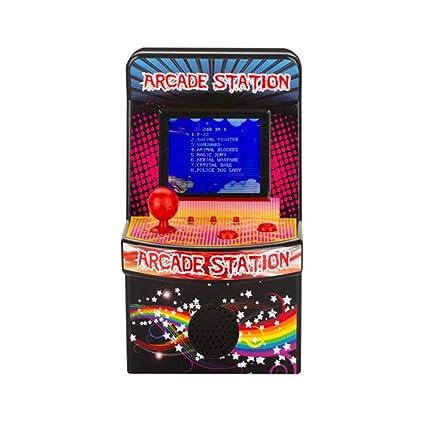 ParZ Mini Arcade Game Máquinas Retro para niños con 240 Videojuegos portátiles clásicos Sistema de Juegos