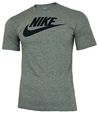 27c470496 Nike Men's Futura Icon Tee, Dark Grey Heather/Obsidian, ...