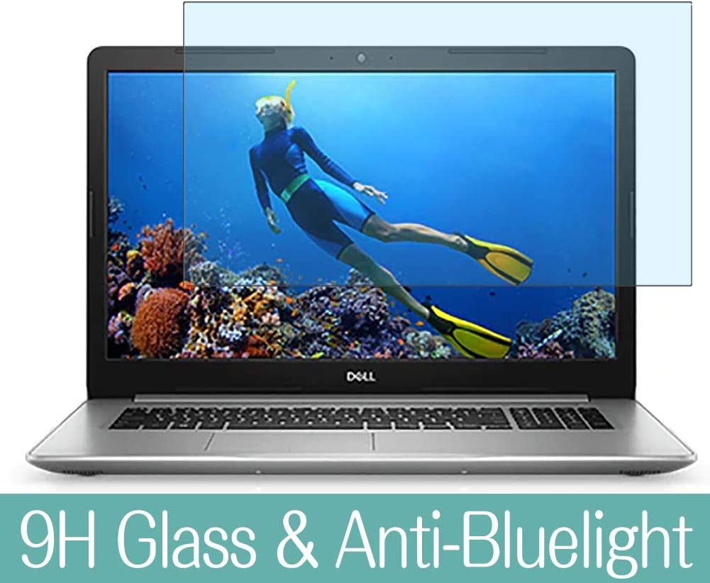 Synvy Anti Blue Light Tempered Glass Screen Protector Compatible with Dell Inspiron 17 5000 (5770) 17.3