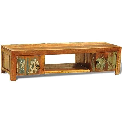 Mueble de televisión de Madera reciclada con Dos Puertas de ...