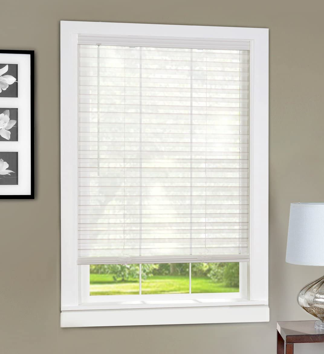 Achim Home Furnishings Light Vane 2-Inch Slat Blind, 36 by 64-Inch, White