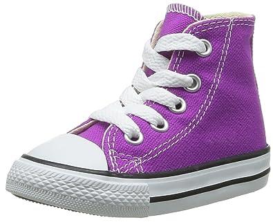 842d1c017 Converse Unisex - Child Chuck Taylor All Star Season Hi Trainers Purple  Violett (VIOLET FLEUR